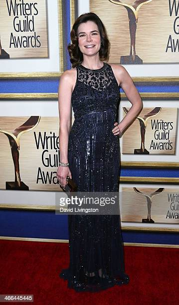 Actress Betsy Brandt attends the 2014 Writers Guild Awards LA Ceremony at JW Marriott Los Angeles at LA LIVE on February 1 2014 in Los Angeles...