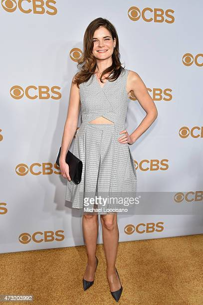 Actress Betsy Brandt attends the 2015 CBS Upfront at The Tent at Lincoln Center on May 13 2015 in New York City