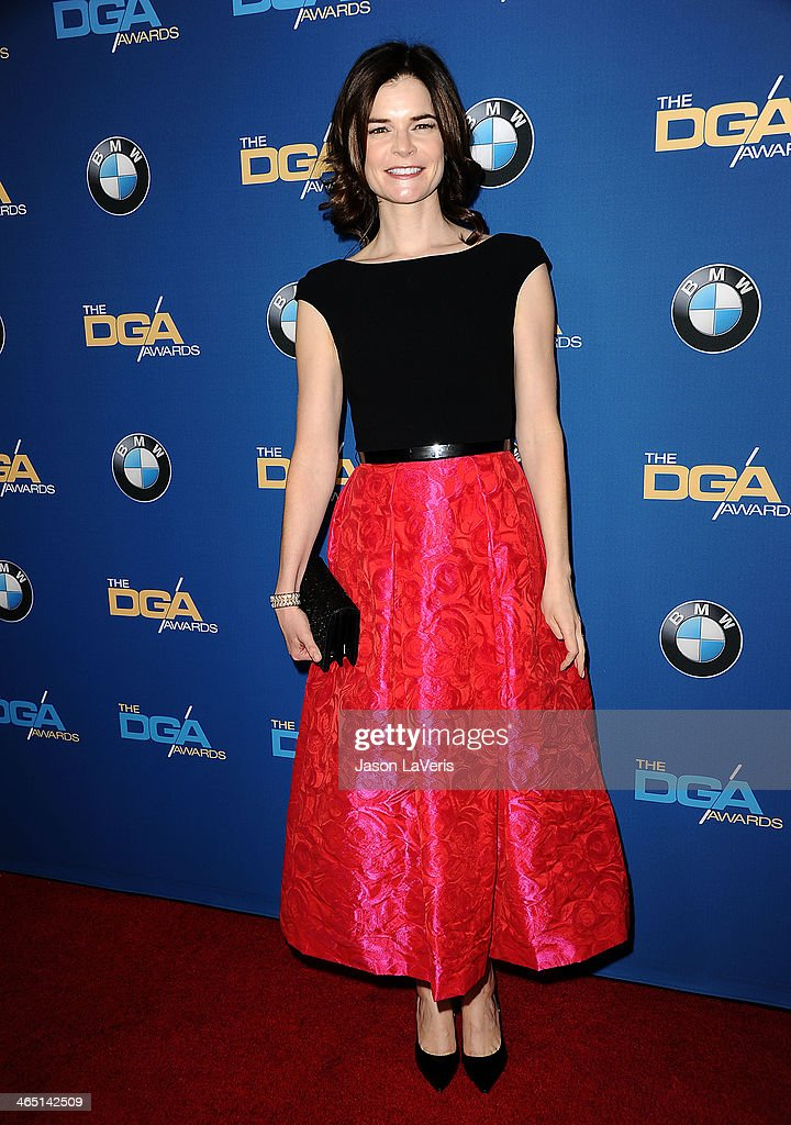 Actress <a gi-track='captionPersonalityLinkClicked' href=/galleries/search?phrase=Betsy+Brandt&family=editorial&specificpeople=4819893 ng-click='$event.stopPropagation()'>Betsy Brandt</a> attends the 66th annual Directors Guild of America Awards at the Hyatt Regency Century Plaza on January 25, 2014 in Century City, California.