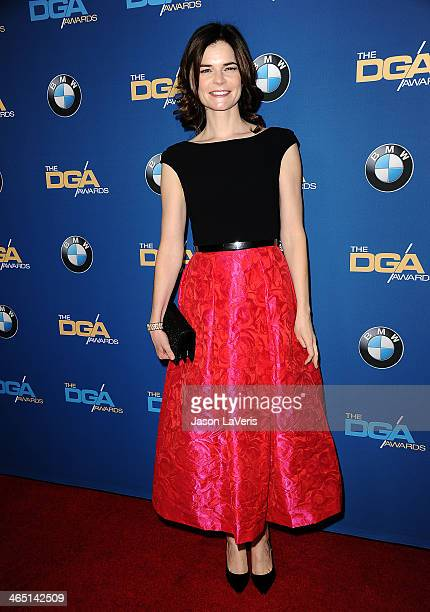 Actress Betsy Brandt attends the 66th annual Directors Guild of America Awards at the Hyatt Regency Century Plaza on January 25 2014 in Century City...