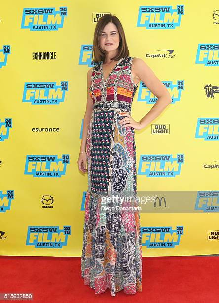 Actress Betsy Brandt attends the premiere of 'Claire in Motion' during the 2016 SXSW Music Film Interactive Festival at Vimeo on March 14 2016 in...