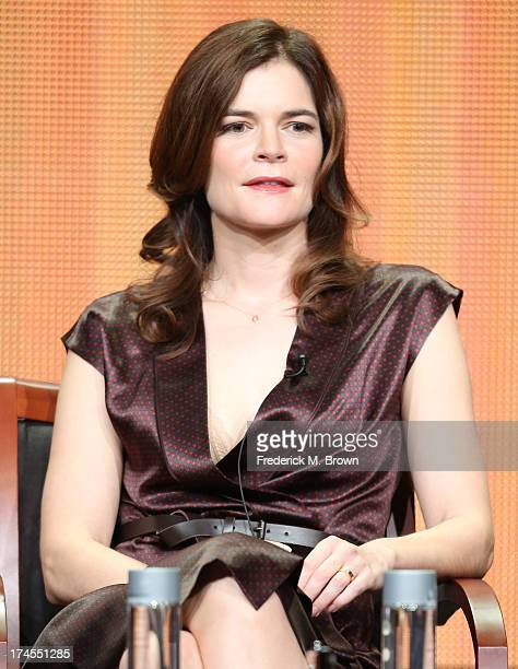 Actress Betsy Brandt speaks onstage during 'The Michael J Fox Show' panel discussion at the NBC portion of the 2013 Summer Television Critics...