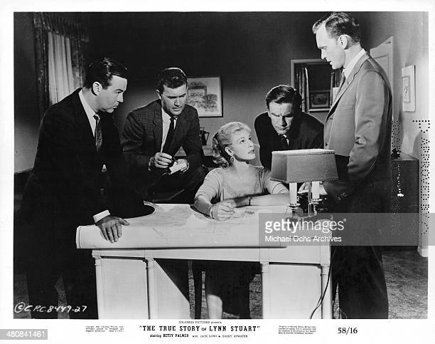 Actress Betsy Palmer and actor Barry Atwater in a scene from the Columbia Pictures movie 'The True Story of Lynn Stuart' circa 1958
