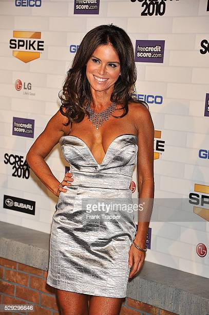 Actress Betsy Russell arrives at Spike TV's 'Scream 2010' held at the Greek Theatre