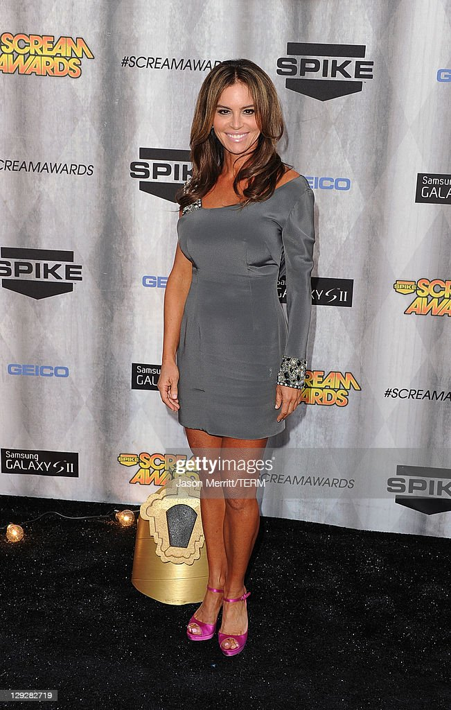 Actress Betsy Russell arrives at Spike TV's 'SCREAM 2011' awards held at Universal Studios on October 15, 2011 in Universal City, California.