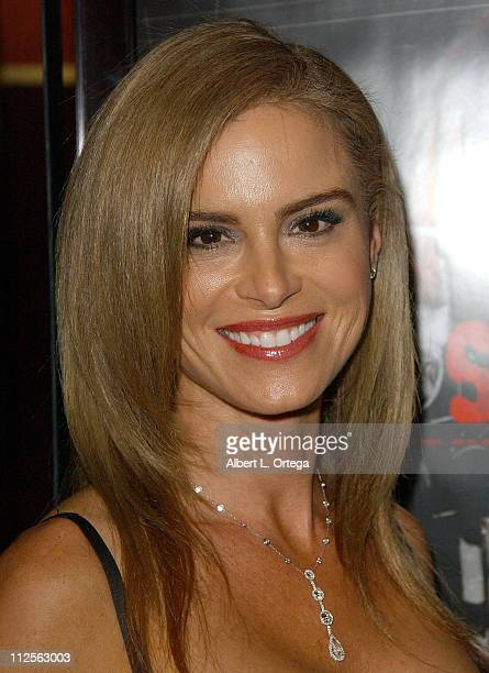 Actress Betsy Russell arrives at the Los Angeles cast and crew screening of Lionsgate's 'SAW IV' held at Mann's Chinese 6 Theater in Hollywood...