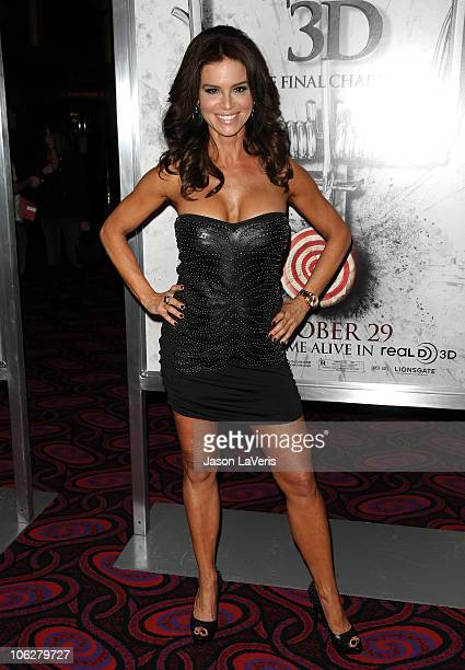 Actress Betsy Russell attends a screening of 'SAW 3D' at Mann's 6 Theatre on October 27 2010 in Hollywood California
