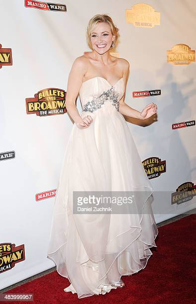 Actress Betsy Wolfe attends the 'Bullets Over Broadway' opening night celebration at The Metropolitan Museum on April 10 2014 in New York City