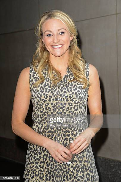 Actress Betsy Wolfe leaves the 'Today Show' taping at the NBC Rockefeller Center Studios on June 4 2014 in New York City