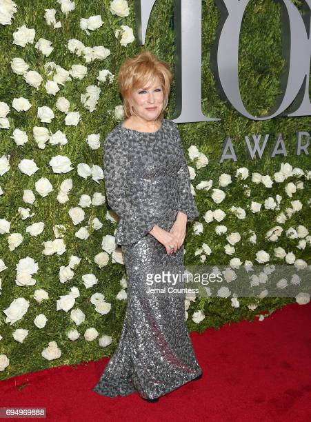 Actress Bette Midler attends the 2017 Tony Awards at Radio City Music Hall on June 11 2017 in New York City