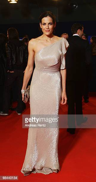Actress Bettina Zimmermann arrives to the Bambi Awards 2009 at the Metropolis Hall at the Filmpark Babelsberg on November 26 2009 in Potsdam Germany