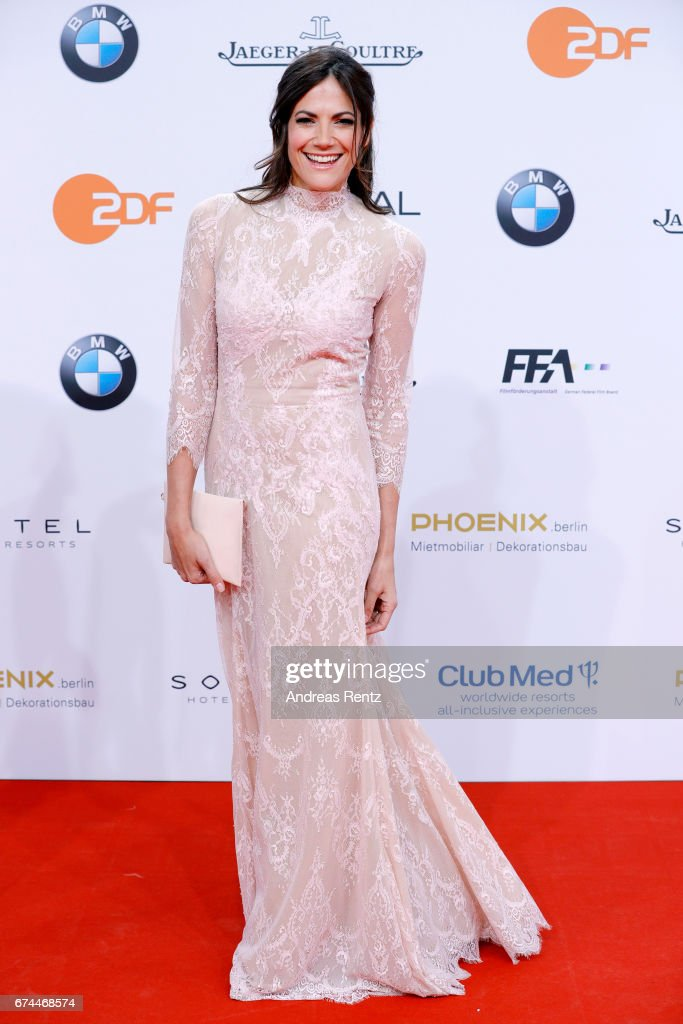 Actress Bettina Zimmermann attends the Lola - German Film Award red carpet at Messe Berlin on April 28, 2017 in Berlin, Germany.