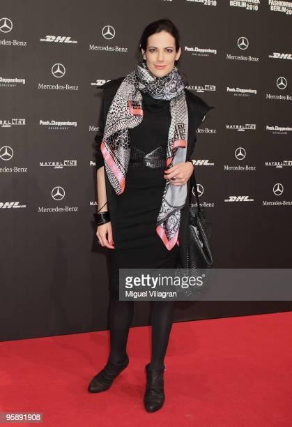Actress Bettina Zimmermann attends the Sam Frenzel Fashion Show during the MercedesBenz Fashion Week Berlin Autumn/Winter 2010 at the Bebelplatz on...