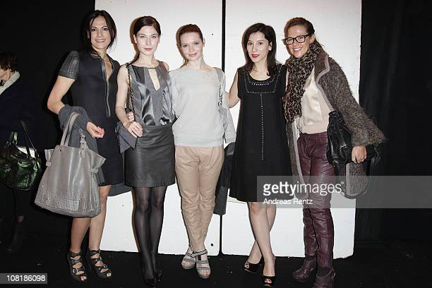 Actress Bettina Zimmermann Nora von Waldstaetten Karoline Herfurth Sibel Kekilli and Alexandra Neldel attend the Schumacher Show during the Mercedes...