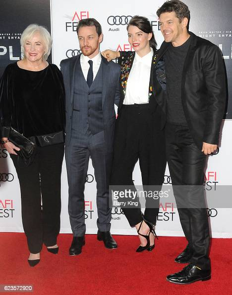Actress Betty Buckley actor James McAvoy actress Anya TaylorJoy and producer Jason Blum attend AFI FEST 2016 Presented By Audi Screening Of Universal...