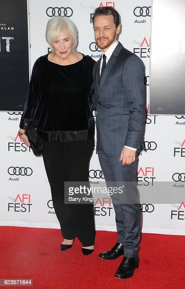 Actress Betty Buckley and actor James McAvoy attend AFI FEST 2016 Presented By Audi Screening Of Universal Pictures' 'Split' at TCL Chinese Theatre...