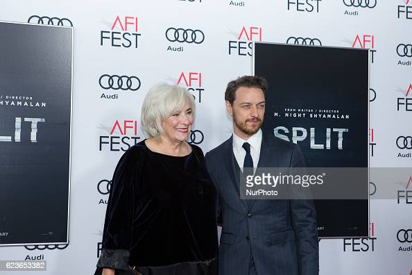 Actress Betty Buckley with actor James McAvoy attend the premier of Split at AFI Fest 2016 presented by AUDI at TCL Chinese Theatre in Hollywood CA...