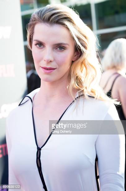 Actress Betty Gilpin arrives for the Premiere Of Netflix's 'GLOW' at The Cinerama Dome on June 21 2017 in Los Angeles California