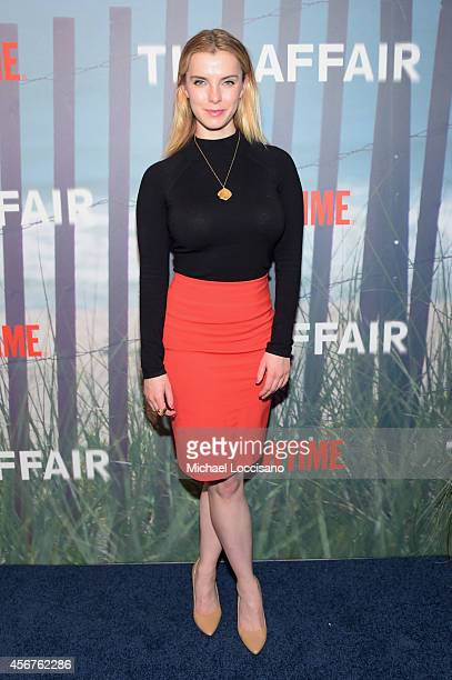 Actress Betty Gilpin attends premiere of SHOWTIME drama 'The Affair' held at North River Lobster Company on October 6 2014 in New York City