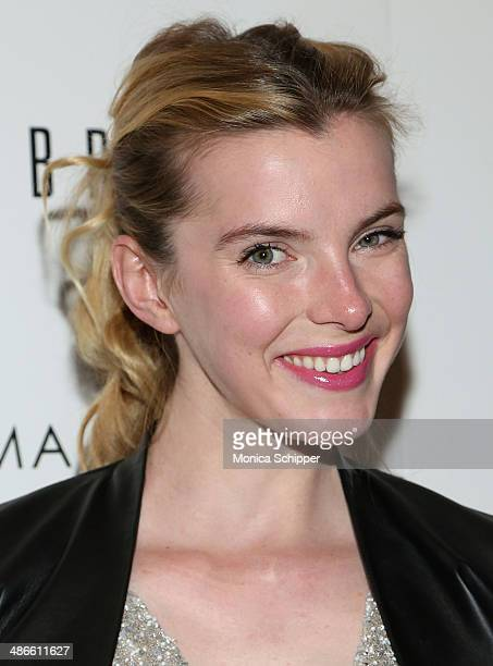 Actress Betty Gilpin attends The Cinema Society Bobbi Brown with InStyle screening of 'The Other Woman' at The Paley Center for Media on April 24...