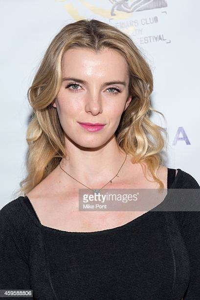Actress Betty Gilpin attends The Friar Club Presents 'Take Care' New York Screening at The Friars Club on November 25 2014 in New York City