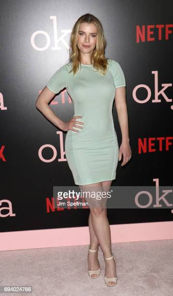 Actress Betty Gilpin attends The New York premiere of 'Okja' hosted by Netflix at AMC Lincoln Square Theater on June 8 2017 in New York City