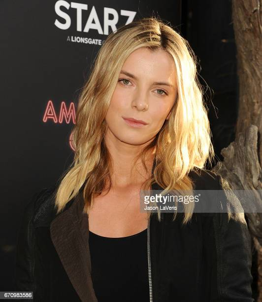 Actress Betty Gilpin attends the premiere of 'American Gods' at ArcLight Cinemas Cinerama Dome on April 20 2017 in Hollywood California