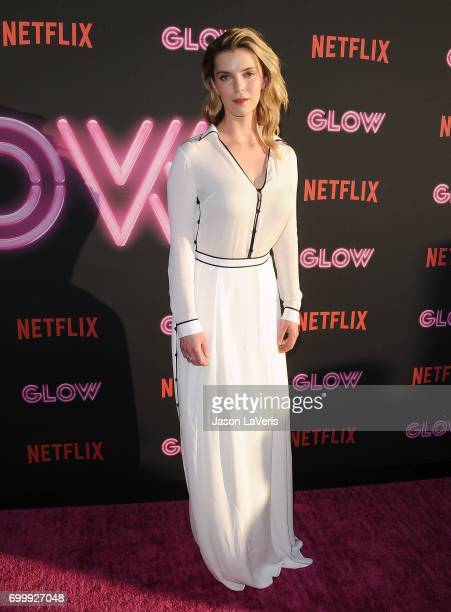 Actress Betty Gilpin attends the premiere of 'GLOW' at The Cinerama Dome on June 21 2017 in Los Angeles California