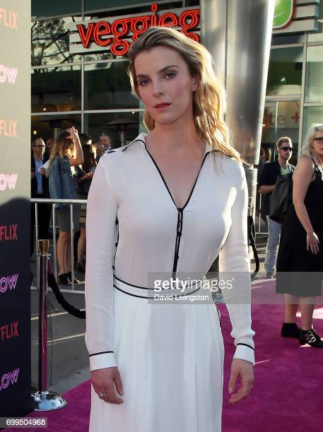 Actress Betty Gilpin attends the premiere of Netflix's 'GLOW' at The Cinerama Dome on June 21 2017 in Los Angeles California