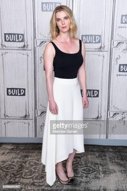 Actress Betty Gilpin discusses the new Netflix show 'Glow' at Build Studio on June 20 2017 in New York City
