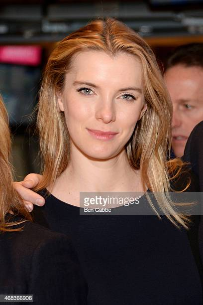 Actress Betty Gilpin rings The NYSE Opening Bell at New York Stock Exchange on April 2 2015 in New York City