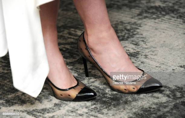 Actress Betty Gilpin shoe detail visits Build to discuss the new Netflix show 'Glow' at Build Studio on June 20 2017 in New York City