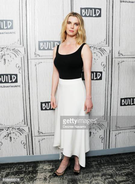 Actress Betty Gilpin visits Build to discuss the new Netflix show 'Glow' at Build Studio on June 20 2017 in New York City