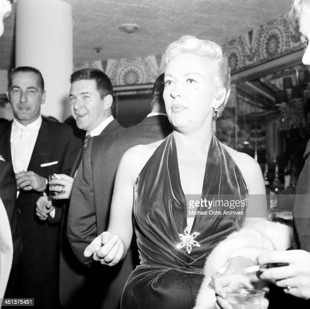 Actress Betty Grable attends a party in Los Angeles California