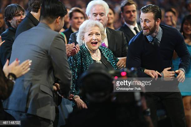 Actress Betty White accepts the award for Favorite TV Icon during The 41st Annual People's Choice Awards at Nokia Theatre LA Live on January 7 2015...