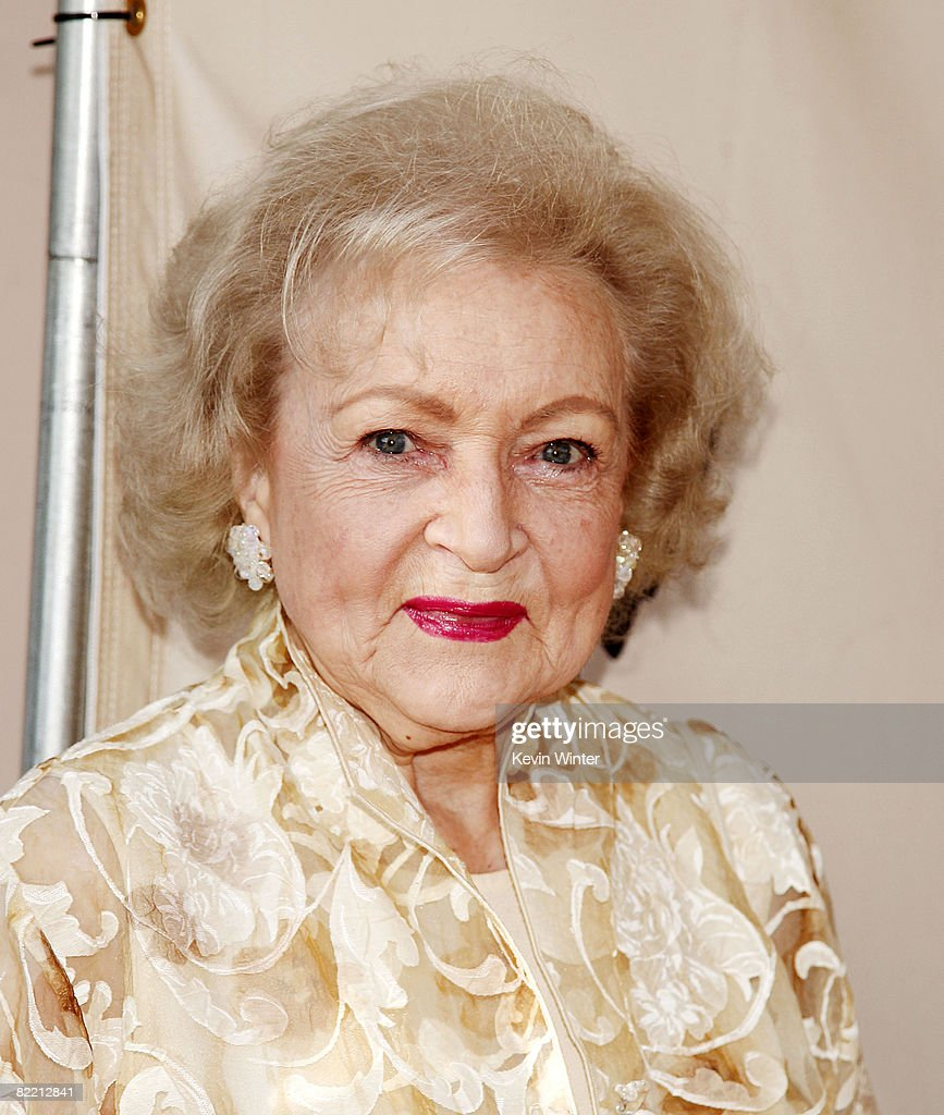 Actress Betty White arrives at the Academy of Television Arts and Sciences celebrating Betty White's 60 years on television at the Leonard Goldenson Theatre on August 7, 2008 in No. Hollywood, California.