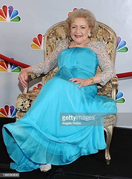 Actress Betty White attends NBC's taping of 'Betty White's 90th Birthday A Tribute to America's Golden Girl' at Millennium Biltmore Hotel on January...