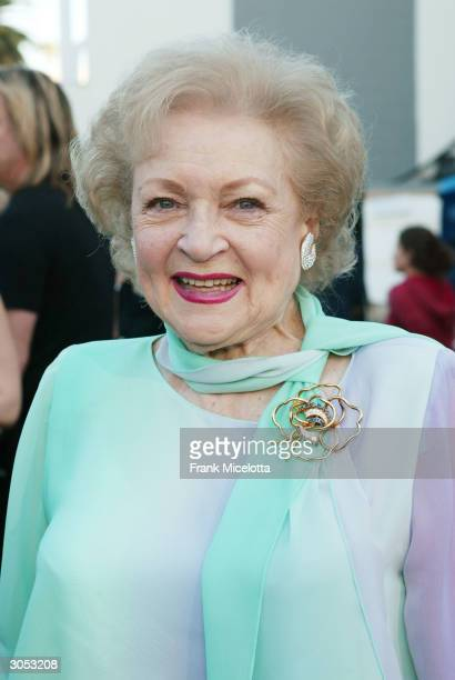 Actress Betty White attends the 2nd Annual TV Land Awards held at The Hollywood Palladium March 7 2004 in Hollywood California