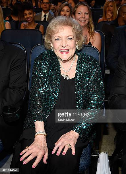 Actress Betty White attends The 41st Annual People's Choice Awards at Nokia Theatre LA Live on January 7 2015 in Los Angeles California
