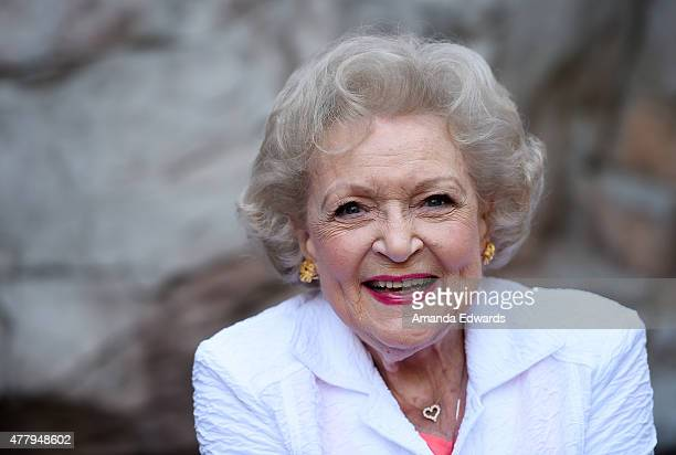 Actress Betty White attends The Greater Los Angeles Zoo Association's 45th Annual Beastly Ball at the Los Angeles Zoo on June 20 2015 in Los Angeles...