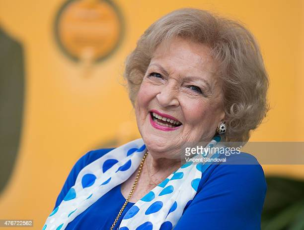 Actress Betty White attends the media preview for Greater Los Angeles Zoo Association's Beastly Ball fundraiser at Los Angeles Zoo on June 11 2015 in...