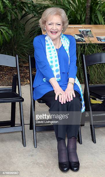 Actress Betty White attends the media preview for the Greater Los Angeles Zoo Association's Beastly Ball Fundraiser at the Los Angeles Zoo on June 11...