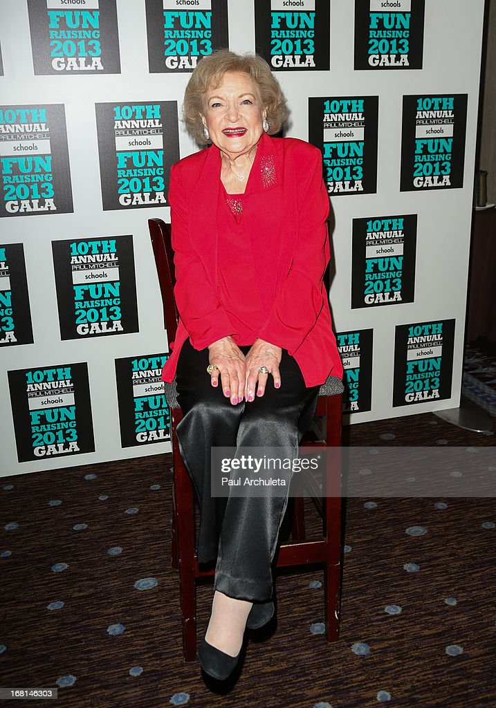 Actress Betty White attends the Paul Mitchell schools' 'FUNraising Campaign' gala at The Beverly Hilton Hotel on May 5, 2013 in Beverly Hills, California.