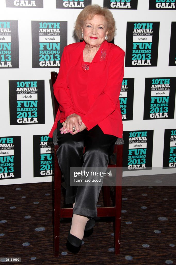 Actress Betty White attends the Paul Mitchell's 10th Annual Fundraiser held at The Beverly Hilton Hotel on May 5, 2013 in Beverly Hills, California.