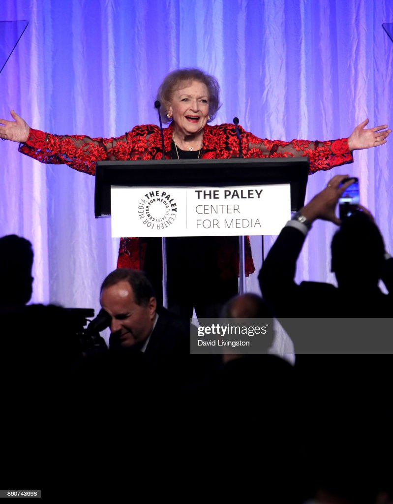 Actress Betty White speaks at Paley Honors in Hollywood: A Gala Celebrating Women in Television at the Beverly Wilshire Four Seasons Hotel on October 12, 2017 in Beverly Hills, California.
