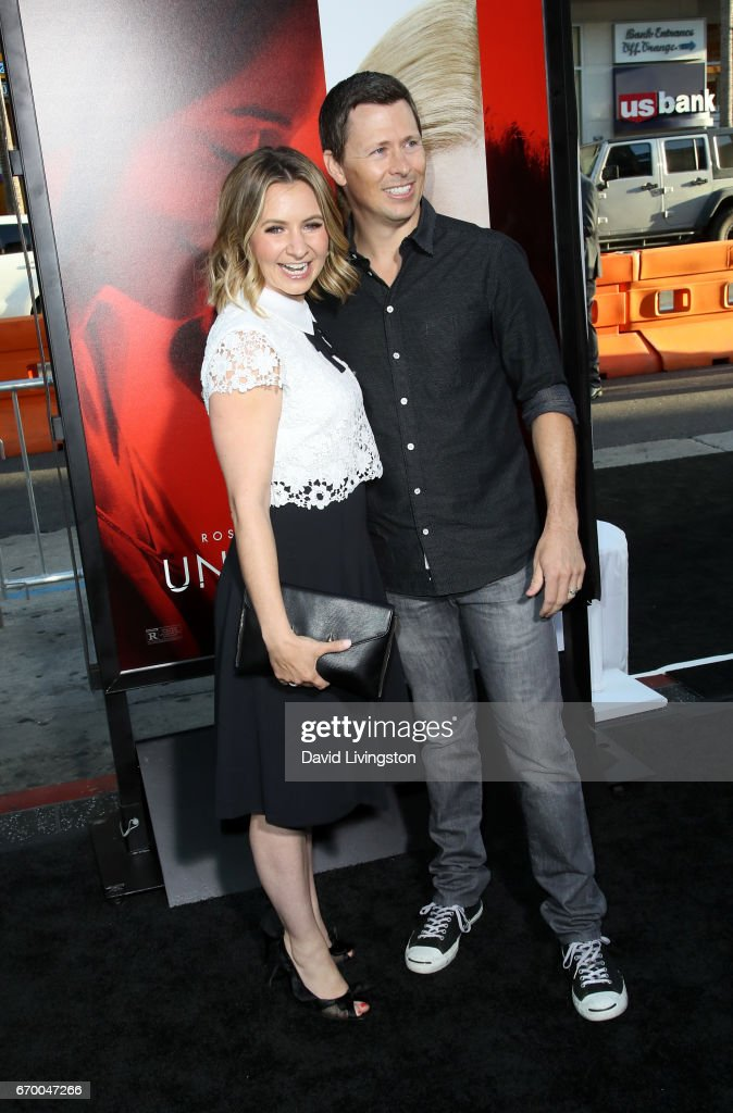 Actress Beverley Mitchell (L) and Michael Cameron attend the premiere of Warner Bros. Pictures' 'Unforgettable' at TCL Chinese Theatre on April 18, 2017 in Hollywood, California.