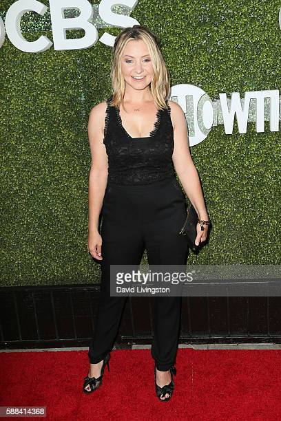 Actress Beverley Mitchell arrives at the CBS CW Showtime Summer TCA Party at the Pacific Design Center on August 10 2016 in West Hollywood California