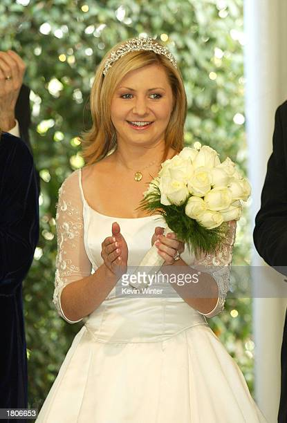 Actress Beverley Mitchell at a reception to celebrate 150 episodes of The WB's '7th Heaven' on February 20 2003 in Los Angeles California