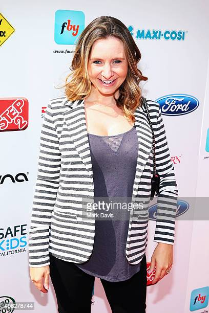 Actress Beverley Mitchell attends the 3rd annual red CARpet safety awareness event presented by Favoredby Diono And Evenflo at the Skirball Cultural...