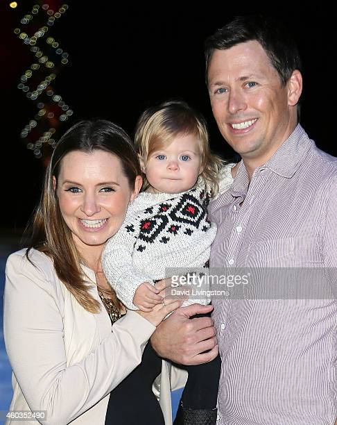 Actress Beverley Mitchell husband Michael Cameron and daughter Kenzie Lynne Cameron attend Disney On Ice presents Let's Celebrate at Staples Center...